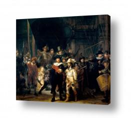 אמנים מפורסמים רמברנדט הרמנזון ואן ריין | Night Watch