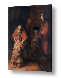 אמנים מפורסמים רמברנדט הרמנזון ואן ריין | Prodigal son