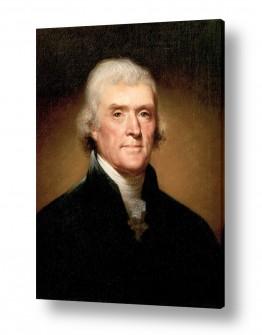 אמנים מפורסמים רמברנדט הרמנזון ואן ריין | Thomas Jefferson
