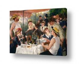 אמנים מפורסמים פייר רנואר | Luncheon Boating Party