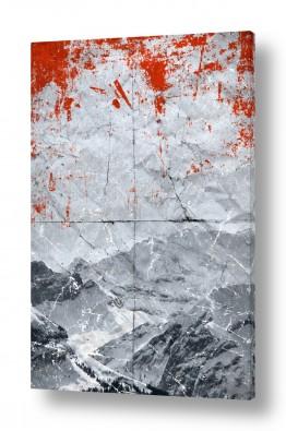 ציורים קולאג'ים | סערה באדום