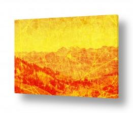 ציורים אמנות דיגיטלית | נוף הרים 2