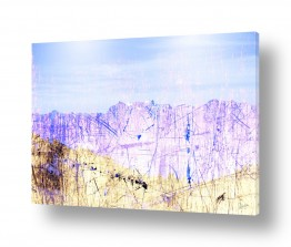 ציורים אבסטרקט | נוף כחול
