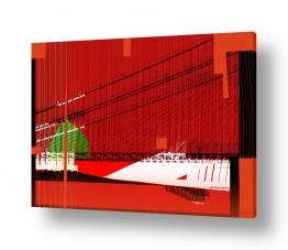 ציורים רוזה לשצ'ינסקי | גשר באדום
