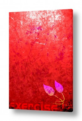 ציורים אמנות דיגיטלית | עלה על רקע ורדו
