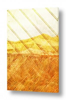 ציורים אבסטרקט | נוף מדבר