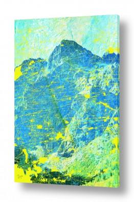 ציורים אבסטרקט | נוף הרים 3