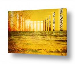 תמונות לסלון סלון בסגנון וינטג' | ים צהוב