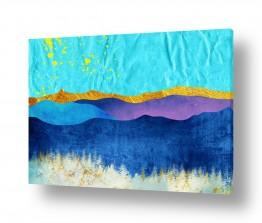 צבעים פופולארים צבע תורכיז | נוף הרים 3