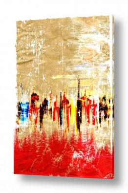 ציורים קולאג'ים | יער אדום