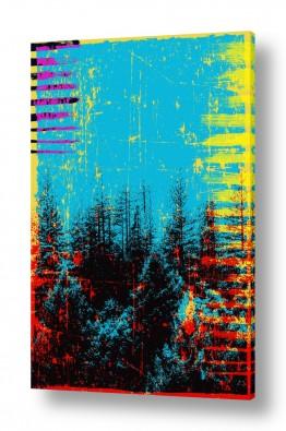 ציורים קולאג'ים | יער שחור