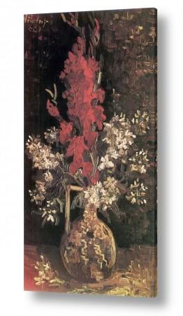 אמנים מפורסמים וינסנט ואן גוך    vase with flowers