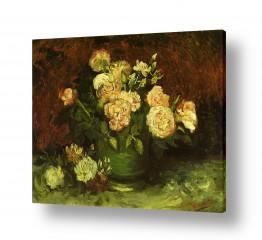 אמנים מפורסמים וינסנט ואן גוך      peonies and Roses