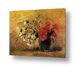 צומח פרחים | vase withe Carnations
