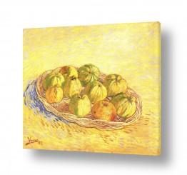 אמנים מפורסמים וינסנט ואן גוך   basket of apples