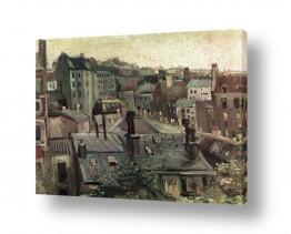 אמנים מפורסמים וינסנט ואן גוך   Paris From Montmartre