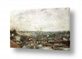 אמנים מפורסמים וינסנט ואן גוך   view of paris