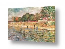 אמנים מפורסמים וינסנט ואן גוך   Banks of the Seine
