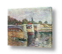 אמנים מפורסמים וינסנט ואן גוך   Langlois Bridge at Arles