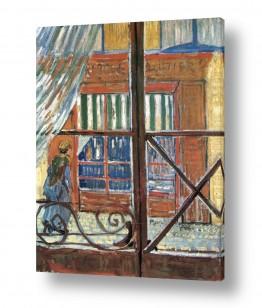 אמנים מפורסמים וינסנט ואן גוך   view of a butchers shop