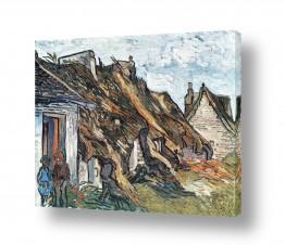 אמנים מפורסמים וינסנט ואן גוך   hut in Chaponval