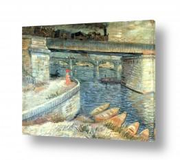אמנים מפורסמים וינסנט ואן גוך   BRIDGES ACROSS THE SEINE