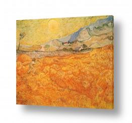 אבסטרקט מופשט אקספרסיוניזם מופשט | wheatfield with reaper