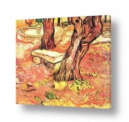 אמנים מפורסמים וינסנט ואן גוך   stone bench