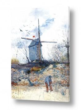 אמנים מפורסמים וינסנט ואן גוך   the mill de la galette