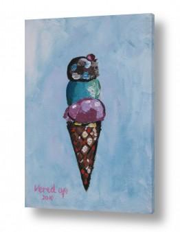 ציורים ורד אופיר | גלידה