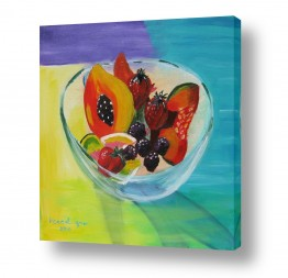 טבע דומם סלסלת פירות | צלוחית פירות