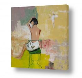 ציורים ורד אופיר | אשה בעירום