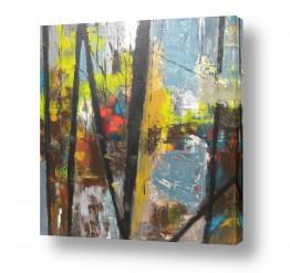 ציורים אבסטרקט | יערות