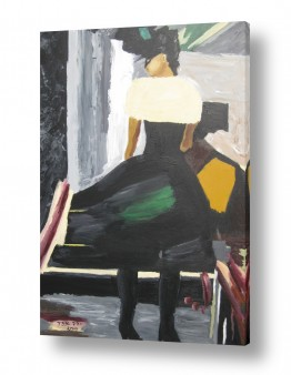 ציורים ציור | The lady in black