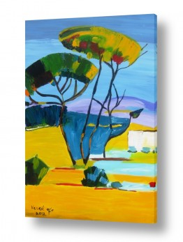 ציורים ורד אופיר | 'עיצים צבעוניים