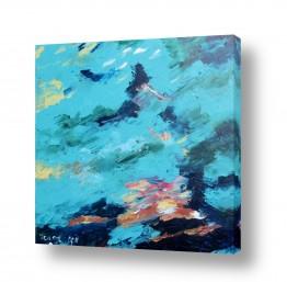 ציורים ורד אופיר | ים סוער