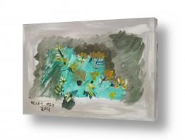 ציורים ורד אופיר | ,צמחייה במדבר