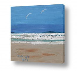 ציורים שמיים | חוף תל אביב