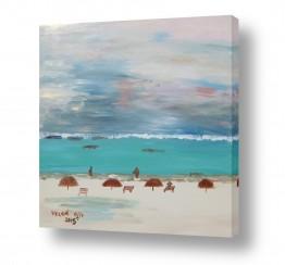 ציורים אבסטרקט | חופי מקסיקו