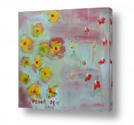 ציורים ורד אופיר | פרחים צהובים