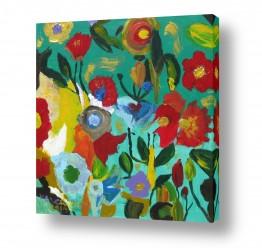 ציורים ציורים אנרגטיים | פרחי אביב