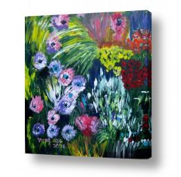 ציורים ורד אופיר | ,פרחים