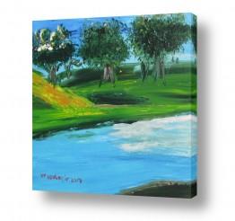 ציורים ורד אופיר | על גדות נחל