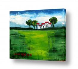 ציורים ורד אופיר | בית בכפר