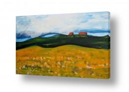 ציורים ורד אופיר | בתים על ההר