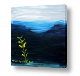 ציורים ורד אופיר | ערב כחול