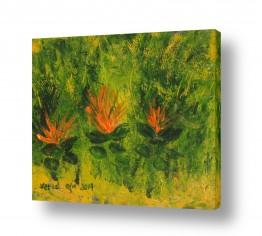 ציורים ורד אופיר | עצים בשדה