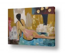 ציורים ורד אופיר | אשה מול מראה