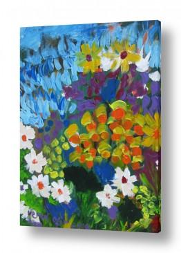 ציורים ורד אופיר | פרחי קיץ