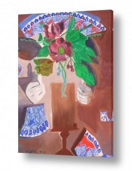 ציורים ורד אופיר | הצלחת שהתנפצה